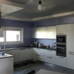 cucina moderna, cartongesso, pitture decorative