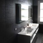 bagno moderno, design, rivestimento, pittura decorativa